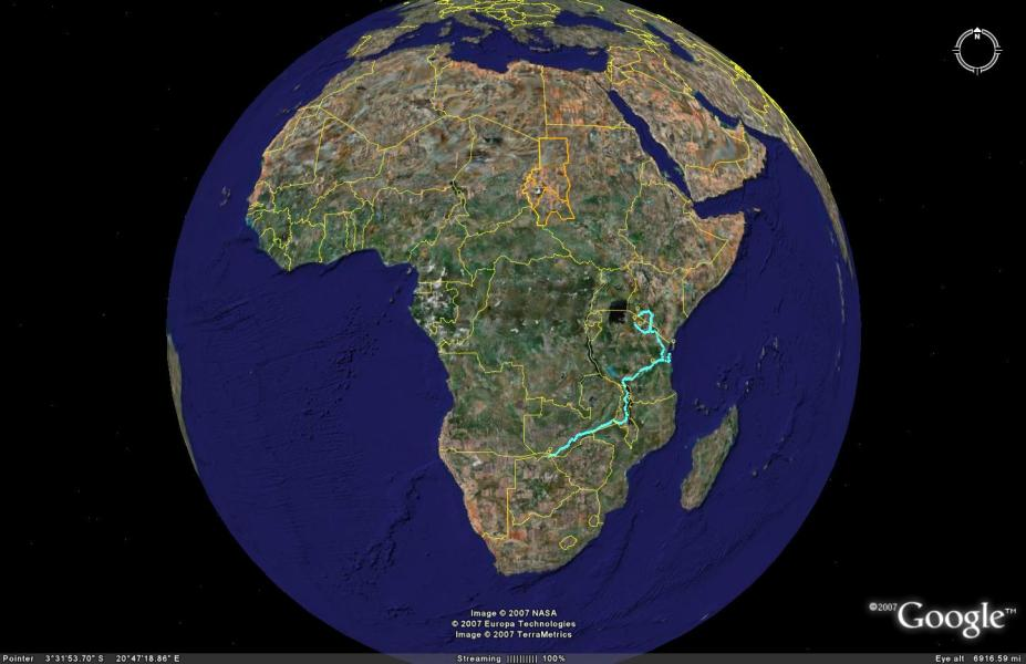 Map Of Africa From Space | Twitterleesclub